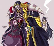 artist:joshua2368 character:ainz_ooal_gown character:albedo character:guild_staff_of_ainz_ooal_gown_(waifu) character:shalltear_bloodfallen copyright:overlord_(maruyama) general:1boy general:2girls general:black_hair general:gothic_lolita general:hood general:horns general:jewelry general:lolita_fashion general:multiple_girls general:purple_hair general:red_eyes general:ring general:robe general:skeleton general:staff general:wings metadata:highres technical:grabber // 1600x1350 // 1.3MB