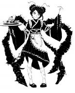 artist:that_storyteller character:entoma_vasilissa_zeta copyright:overlord_(maruyama) general:1girl general:double_bun general:greyscale general:insect_girl general:maid general:monochrome general:ofuda general:simple_background general:solo general:white_background meta:highres tagme technical:grabber // 1375x1700 // 556.5KB