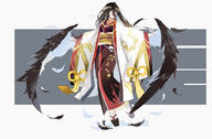 artist:mitu_yang character:albedo copyright:overlord general:black_hair general:demon general:feathers general:horns general:japanese_clothes general:kimono general:long_hair general:socks general:wings general:yellow_eyes technical:grabber // 1200x786 // 329.5KB