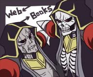 character:ainz_ooal_gown copyright:overlord_(maruyama) general:2boys general:collar general:comparison general:english_text general:grey_skin general:hood general:looking_at_another general:multiple_boys general:multiple_persona general:red_eyes general:robe general:skeleton general:undead metadata:artist_request metadata:lowres tagme technical:grabber // 500x418 // 151.0KB