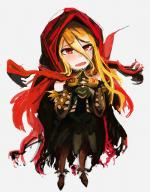 character:evileye copyright:overlord_(maruyama) general:1girl general:blonde_hair general:cape general:fang general:gloves general:hands_together general:hood general:long_hair general:long_sleeves general:open_mouth general:red_eyes general:simple_background general:skirt general:solo general:spikes general:vampire metadata:artist_request tagme technical:grabber // 650x832 // 435.4KB