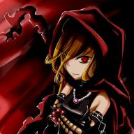 character:evileye copyright:overlord_(maruyama) general:1girl general:blonde_hair general:cape general:chains general:collar general:crossed_arms general:detached_sleeves general:fang general:gloves general:hair_between_eyes general:hood general:long_sleeves general:red_eyes metadata:artist_request tagme technical:grabber // 800x800 // 124.2KB