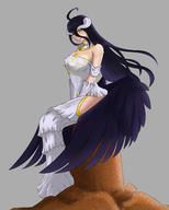 character:albedo technical:grabber unknown:OVERLORD unknown:Solo unknown:blackhair unknown:fanart unknown:girl unknown:horn unknown:longhair unknown:succubus unknown:white // 2000x2500 // 2.3MB