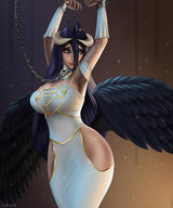 character:albedo technical:grabber unknown:OVERLORD unknown:bondage unknown:chains unknown:cuffed unknown:horns unknown:tiedup unknown:wings // 800x960 // 384.9KB