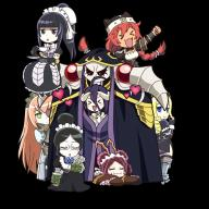 character:ainz_ooal_gown character:albedo character:cz2128_delta character:entoma_vasilissa_zeta character:lupusregina_beta character:narberal_gamma character:solution_epsilon character:yuri_alpha copyright:overlord_(maruyama) general:6+girls general:black_hair general:blonde_hair general:braid general:chibi general:double_bun general:eyepatch general:glasses general:hair_bun general:heart general:horns general:lich general:long_hair general:maid general:multiple_girls general:ponytail general:red_hair general:skeleton general:transparent_background general:twin_braids tagme technical:grabber // 800x800 // 619.7KB