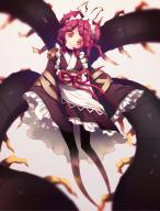 character:entoma_vasilissa_zeta copyright:overlord_(maruyama) general:1girl general:bug general:centipede general:insect_girl general:japanese_clothes general:kimono general:looking_at_viewer general:maid general:monster_girl general:purple_hair general:red_eyes general:tentacle metadata:highres technical:grabber // 1617x2117 // 1.9MB