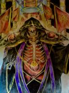 character:ainz_ooal_gown tagme technical:grabber unknown:アナログ unknown:オーバーロード unknown:スケルトン unknown:編集 unknown:色鉛筆 unknown:色鉛筆の本気 // 1936x2592 // 2.0MB