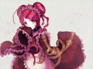 character:entoma_vasilissa_zeta copyright:overlord_(maruyama) general:1girl general:antennae general:apron general:budda general:dress general:fangs general:female general:frilled_dress general:frilled_sleeves general:frills general:insect_girl general:long_sleeves general:looking_at_viewer general:maid_headdress general:red_eyes general:red_hair general:sleeves_past_wrists general:solo general:wa_maid general:wide_sleeves genre:monster_girl medium:4:3_aspect_ratio technical:grabber // 1067x800 // 946.9KB