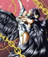 character:albedo technical:grabber unknown:OVERLORD unknown:anime unknown:lightnovel unknown:wings // 2500x3000 // 6.7MB