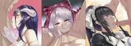 character:albedo character:narberal_gamma character:shalltear_bloodfallen copyright:overlord_(maruyama) general:3girls general:blush general:deepthroat general:fellatio general:multiple_girls general:oral general:penis technical:grabber // 1200x416 // 414.6KB