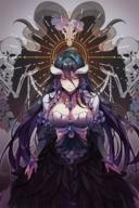 artist:jju_(nile12634) character:albedo copyright:overlord_(maruyama) general:1girl general:alternate_costume general:animal_skull general:black_hair general:black_wings general:breasts general:cleavage general:demon_horns general:dress general:feathered_wings general:flower general:flower_ornament general:frilled_dress general:frills general:glover general:hair_between_eyes general:halo general:horns general:jewelry general:large_breasts general:light_rays general:looking_at_viewer general:low_wings general:necklace general:rose general:sheep_horns general:skeleton general:slit_pupils general:smile general:wings general:yellow_eyes meta:commentary_request meta:highres technical:grabber // 1200x1807 // 2.3MB