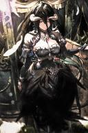 artist:so-bin character:albedo copyright:overlord_(maruyama) general:dress general:horns general:long_hair general:wings general:yellow_eyes medium:high_resolution technical:grabber // 1254x1872 // 345.2KB