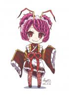 character:entoma_vasilissa_zeta copyright:overlord_(maruyama) general:1girl general:antenna general:artist_name general:chibi general:dated general:insect_girl general:kimono general:looking_at_viewer general:maid general:monster_girl general:signature general:simple_background general:talisman general:white_background technical:grabber // 504x689 // 209.6KB