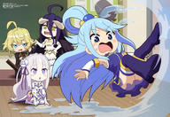 character:albedo character:aqua_(konosuba) character:emilia_(re:zero) character:tanya_degurechaff copyright:isekai_quartet copyright:kono_subarashii_sekai_ni_shukufuku_wo! copyright:megami copyright:overlord_(maruyama) copyright:re:zero_kara_hajimeru_isekai_seikatsu copyright:youjo_senki general:4girls general:ahoge general:black_hair general:black_wings general:blonde_hair general:blue_eyes general:blue_hair general:blush general:breasts general:chibi general:classroom general:crossover general:demon_girl general:demon_horns general:detached_sleeves general:flower general:hair_flower general:hair_ornament general:hair_rings general:high_heels general:horns general:long_hair general:medium_breasts general:military general:military_uniform general:mop general:multiple_girls general:open_mouth general:pointy_ears general:purple_eyes general:see-through general:short_hair general:silver_hair general:skirt general:thighhighs general:uniform general:wings general:yellow_eyes metadata:absurdres metadata:highres tagme technical:grabber // 5937x4078 // 2.3MB