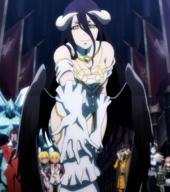 character:albedo copyright:overlord_(maruyama) general:1girl general:bare_shoulders general:black_hair general:breasts general:cleavage general:closed_mouth general:demon general:demon_girl general:dress general:female general:gloves general:happy general:hip_vent general:horns general:large_breasts general:long_hair general:looking_at_viewer general:solo general:succubus general:yellow_eyes metadata:highres metadata:screencap metadata:stitched metadata:third-party_edit technical:grabber // 1912x2160 // 3.6MB