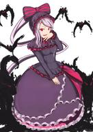 artist:ata_(egalite) character:shalltear_bloodfallen copyright:overlord_(maruyama) general:1girl general:bonnet general:bow general:breasts general:dress general:fang general:female general:frilled_dress general:frills general:hair_bow general:hair_ornament general:hand_to_own_mouth general:large_breasts general:long_hair general:long_sleeves general:looking_at_viewer general:open_mouth general:ponytail general:red_eyes general:silver_hair general:slit_pupils general:solo general:standing general:tied_hair general:vampire medium:high_resolution medium:simple_background medium:white_background technical:grabber // 906x1275 // 935.8KB
