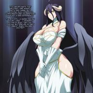 artist:jadf character:albedo copyright:overlord_(maruyama) general:1girl general:black_hair general:blush general:breasts general:demon_girl general:horns general:large_breasts general:succubus general:wings general:yellow_eyes metadata:highres metadata:translated technical:grabber // 1440x1440 // 1.5MB