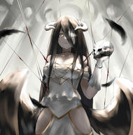 Mangaka:Pixiv_Id_20614292 Series:Overlord character:albedo technical:grabber // 3472x3508 // 3.1MB