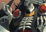 artist:lansane character:ainz_ooal_gown copyright:overlord_(maruyama) general:1boy general:aura general:black_sclera general:cloak general:commentary general:hood_up general:jewelry general:lich general:long_sleeves general:looking_at_viewer general:necromancer general:ribs general:ring general:signature general:skeleton general:solo general:teeth general:upper_body general:wide_sleeves technical:grabber // 1008x712 // 963.0KB