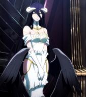 character:albedo copyright:overlord_(maruyama) general:1girl general:bare_shoulders general:black_hair general:breasts general:cleavage general:demon general:demon_girl general:dress general:female general:gloves general:hip_vent general:horns general:large_breasts general:long_hair general:looking_at_viewer general:purple_hair general:solo general:succubus general:wings general:yellow_eyes metadata:highres metadata:screencap metadata:stitched metadata:third-party_edit technical:grabber // 1904x2160 // 2.8MB