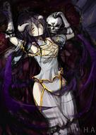 character:ainz_ooal_gown character:albedo copyright:overlord_(maruyama) general:1boy general:1girl general:black_hair general:black_wings general:breasts general:demon_girl general:demon_horns general:dress general:feathered_wings general:female general:gloves general:hair_between_eyes general:hip_vent general:horns general:large_breasts general:long_hair general:looking_at_viewer general:male general:skeleton general:user_kvdc4274 general:white_dress general:white_gloves general:wings general:yellow_eyes technical:grabber // 640x905 // 390.2KB