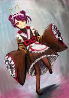 character:entoma_vasilissa_zeta copyright:overlord_(maruyama) general:1girl general:antennae general:apron general:double_bun general:fang general:frills general:hair_bun general:japanese_clothes general:kimono general:long_skirt general:long_sleeves general:maid general:maid_apron general:maid_headdress general:mary_janes general:purple_hair general:red_eyes general:ribbon general:shoes general:skirt general:sleeves_past_wrists general:solo metadata:artist_request metadata:highres tagme technical:grabber // 900x1273 // 320.3KB
