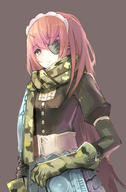 character:cz2128_delta copyright:overlord_(maruyama) general:1girl general:armor general:armored_dress general:breasts general:camouflage general:closed_mouth general:corset general:eyebrows_visible_through_hair general:eyepatch general:female general:gloves general:green_eyes general:long_hair general:looking_at_viewer general:maid_headdress general:scarf general:simple_background general:small_breasts general:solo general:upper_body general:yu_kitsune metadata:highres technical:grabber // 1164x1778 // 994.3KB