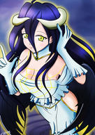 character:albedo technical:grabber unknown:Lizzer unknown:fanart unknown:オーバーロード(アニメ) // 2480x3508 // 3.4MB