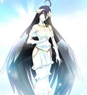 character:albedo copyright:overlord_(maruyama) general:1girl general:ahoge general:bare_shoulders general:breasts general:cleavage general:gradient general:gradient_background general:green_eyes general:hip_vent general:horns general:long_hair general:looking_at_viewer general:purple_hair general:smile general:solo general:standing general:very_long_hair general:wings metadata:highres metadata:screencap tagme technical:grabber // 1280x1392 // 250.5KB