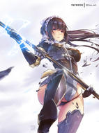 character:narberal_gamma copyright:overlord_(maruyama) general:1girl general:armored_boots general:ass_visible_through_thighs general:bangs general:black_gloves general:black_hair general:black_legwear general:black_panties general:blue_eyes general:blunt_bangs general:boots general:bow general:elbow_gloves general:electricity general:floating_hair general:from_below general:gloves general:hair_bow general:holding general:holding_staff general:leg_up general:long_hair general:maid_headdress general:mitsu_(mitsu_art) general:panties general:shattered general:shiny general:shiny_hair general:solo general:staff general:underwear general:very_long_hair general:white_bow technical:grabber // 709x960 // 128.5KB