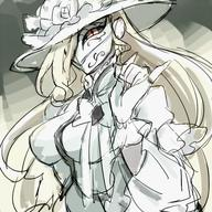 artist:notoro character:shalltear_bloodfallen copyright:overlord_(maruyama) general:alternate_costume general:alternate_hairstyle general:blonde_hair general:dress general:flower general:hat general:long_hair general:mask general:ribbon metadata:lowres technical:grabber // 500x500 // 296.5KB