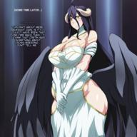 artist:jadf character:albedo copyright:overlord_(maruyama) general:1girl general:black_hair general:blush general:breasts general:demon_girl general:horns general:large_breasts general:pregnant general:succubus general:wings general:yellow_eyes metadata:highres metadata:translated technical:grabber // 1440x1440 // 1.5MB