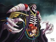 artist:joshua2368 character:ainz_ooal_gown character:nemu_emmot copyright:overlord_(maruyama) general:1boy general:1girl general::d general:black_robe general:black_sclera general:brown_hair general:closed_eyes general:copyright_name general:dated general:english_text general:fang general:fangs general:hood general:hood_up general:jewelry general:lich general:long_sleeves general:looking_at_viewer general:low_twintails general:necromancer general:open_mouth general:red_eyes general:ring general:robe general:skeleton general:smile general:sparkle general:standing general:twintails general:wide_sleeves meta:highres tagme technical:grabber // 2000x1520 // 1.2MB