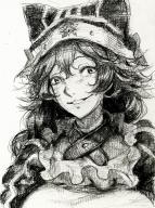 artist:yang-do character:lupusregina_beta copyright:overlord_(maruyama) general:1girl general:animal_hat general:braid general:collar general:frills general:hat general:puffy_sleeves general:smile general:solo general:twin_braids metadata:highres metadata:monochrome tagme technical:grabber // 1500x2002 // 2.9MB