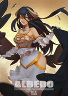 character:albedo copyright:overlord copyright:overlord_(maruyama) general:1girl general:black_hair general:black_wings general:breasts general:cleavage general:demon_girl general:dress general:female general:gloves general:hair_between_eyes general:hip_vent general:horns general:ice_in_armour general:large_breasts general:long_hair general:looking_at_viewer general:solo general:white_dress general:white_gloves general:wings general:yellow_eyes medium:high_resolution medium:very_high_resolution technical:grabber // 2480x3508 // 2.8MB