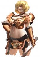 artist:dnjswns178 character:clementine_(overlord) copyright:overlord_(maruyama) general:1girl general:armor general:bangs general:blonde_hair general:breastplate general:breasts general:cleavage general:cleavage_cutout general:criss-cross_halter general:cropped_legs general:evil_smile general:halterneck general:hand_on_hip general:holding general:holding_sword general:holding_weapon general:large_breasts general:lips general:looking_at_viewer general:midriff general:navel general:nose general:red_eyes general:short_hair general:shoulder_armor general:sketch general:smile general:solo general:spaulders general:sword general:weapon general:white_background meta:absurdres meta:commentary_request meta:highres tagme technical:grabber // 2480x3508 // 2.1MB