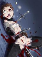 character:ninya_(overlord) copyright:overlord_(maruyama) general:blood general:blue_eyes general:brown_hair general:dagger general:death general:rape general:weapon genre:guro medium:censored meta:extreme_content technical:grabber // 800x1067 // 379.5KB