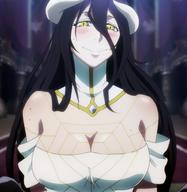 character:albedo copyright:overlord_(maruyama) general:1girl general:bare_shoulders general:black_hair general:blush general:breasts general:cleavage general:demon general:demon_girl general:dress general:female general:gloves general:happy general:horns general:large_breasts general:long_hair general:looking_at_viewer general:open_mouth general:smile general:solo general:standing general:succubus general:yellow_eyes medium:high_resolution medium:screen_capture medium:stitched technical:grabber // 1920x1976 // 968.4KB