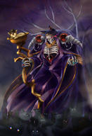 artist:910pan character:ainz_ooal_gown copyright:overlord_(maruyama) general:cat general:flaming_eye general:holding general:holding_staff general:jewelry general:night general:purple_sky general:red_eyes general:ring general:skeleton general:staff general:standing general:tree meta:highres technical:grabber // 820x1204 // 982.7KB