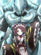 character:cocytus_(overlord) character:entoma_vasilissa_zeta copyright:overlord_(maruyama) general:1boy general:1girl general:blue_skin general:chitin general:extra_eyes general:insect_girl general:japanese_clothes general:kimono general:looking_at_viewer general:monster general:monster_girl general:red_eyes general:waving metadata:highres tagme technical:grabber // 1200x1600 // 249.6KB