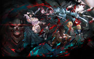 artist:so-bin character:ainz_ooal_gown character:albedo character:aura_bella_fiora character:cocytus_(overlord) character:demiurge character:mare_bello_fiore character:sebas_tian character:shalltear_bloodfallen // 4167x2629 // 3.3MB