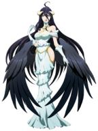 character:albedo technical:grabber unknown:1girl unknown:ahoge unknown:bare_shoulders unknown:black_hair unknown:black_wings unknown:breasts unknown:character_sheet unknown:cleavage unknown:demon_girl unknown:detached_collar unknown:dress unknown:expressions unknown:female_focus unknown:full_body unknown:gloves unknown:highres unknown:hip_vent unknown:horns unknown:langrisser unknown:langrisser_mobile unknown:large_breasts unknown:long_hair unknown:long_legs unknown:low_wings unknown:multiple_views unknown:off-shoulder_dress unknown:off_shoulder unknown:official_art unknown:overlord_(maruyama) unknown:simple_background unknown:smile unknown:very_long_hair unknown:white_background unknown:white_dress unknown:white_gloves unknown:wings unknown:yellow_eyes // 1509x2009 // 1.4MB