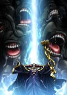 character:ainz_ooal_gown copyright:overlord_(maruyama) general:1boy general:absurdres general:black_dress general:dress general:highres general:holding general:hooded general:key_visual general:long_dress general:monster general:official_art general:outstretched_arms general:skull general:solo general:standing tagme technical:grabber // 2432x3430 // 984.3KB