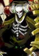 artist:kuriyama5422 character:ainz_ooal_gown copyright:overlord_(maruyama) general:1boy general:bone general:collar general:hood general:jewelry general:red_eyes general:ring general:robe general:skeleton general:solo general:staff general:undead technical:grabber // 716x1011 // 374.6KB