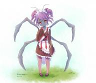 character:entoma_vasilissa_zeta copyright:overlord copyright:overlord_(maruyama) general:1girl general:antennae general:apron general:double_bun general:dress general:extra_eyes general:extra_legs general:fangs general:female general:frilled_dress general:frilled_sleeves general:frills general:full_body general:insect_girl general:long_sleeves general:looking_at_viewer general:m-u-o general:maid general:maid_headdress general:mary_janes general:pantyhose general:purple_hair general:red_eyes general:shibanme_tekikumo general:shoes general:short_hair general:sleeves_past_wrists general:solo general:wa_maid general:wide_sleeves genre:monster_girl medium:artist_name technical:grabber // 1090x944 // 786.2KB