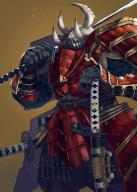 artist:horocca character:warrior_takemikazuchi copyright:overlord_(maruyama) general:armor general:claws general:cowboy_shot general:fingernails general:hand_on_hilt general:helmet general:holding general:holding_sword general:holding_weapon general:horned_helmet general:japanese_armor general:katana general:monster general:multiple_swords general:over_shoulder general:samurai general:sharp_fingernails general:sheath general:sheathed general:standing general:sword general:teeth general:weapon general:weapon_over_shoulder general:yellow_background tagme technical:grabber // 648x907 // 882.1KB