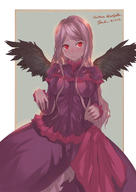 artist:10hmugen character:shalltear_bloodfallen copyright:overlord_(maruyama) general:1girl general:black_wings general:breasts general:dress general:female general:gothic_lolita general:lolita_fashion general:long_hair general:looking_at_viewer general:medium_breasts general:pink_hair general:red_eyes general:silver_hair general:solo general:wings medium:high_resolution medium:simple_background technical:grabber // 1066x1508 // 154.6KB