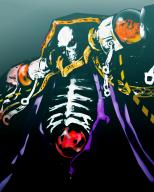 character:ainz_ooal_gown copyright:overlord_(maruyama) general:1boy general:bone general:collar general:hood general:kts general:red_eyes general:robe general:simple_background general:skeleton general:solo general:undead tagme technical:grabber // 1365x1695 // 1.4MB