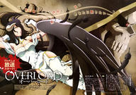 character:ainz_ooal_gown character:albedo character:lich copyright:overlord_(maruyama) general:1girl general:black_hair general:breasts general:cleavage general:cloak general:dress general:gloves general:glowing general:glowing_eyes general:gradient general:gradient_background general:hip_vent general:horns general:long_hair general:lying general:no_skin general:poster general:skeleton general:slit_pupils general:yellow_eyes metadata:absurdres metadata:highres metadata:official_art metadata:scan technical:grabber // 5819x4090 // 2.9MB