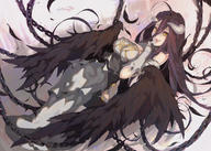 artist:waterring character:albedo copyright:overlord_(maruyama) general:1girl general:bare_shoulders general:black_wings general:breasts general:demon_girl general:demon_horns general:demon_wings general:dress general:gloves general:hair_between_eyes general:horns general:large_breasts general:long_hair general:looking_at_viewer general:solo general:white_dress general:white_gloves general:wings general:yellow_eyes technical:grabber // 1200x855 // 922.0KB